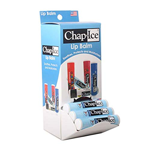 ChapIce | Medicated lip balm  for chapped windburned lips  gravity feed display  24 count