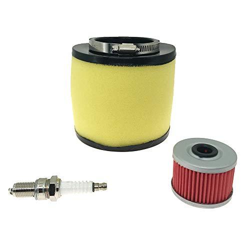 Syconeer Air Filter Oil Filter Spark Plug for 1995-2004 Honda Foreman 400 450 TRX400 TRX450 2000-2006 Honda Rancher 350 TRX350 Replace OE 17254-HN5-670