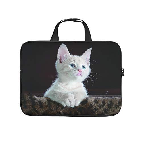 Funda para portátil con diseño de gato asiático, de doble cara, impermeable, de neopreno, para tablet, para amigos y familiares
