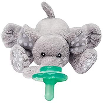 Nookums Paci-Plushies Buddies Adapts to Name Brand Pacifiers Suitable for All Ages Plush Toy Includes Detachable Pacifier  Ella The Elephant