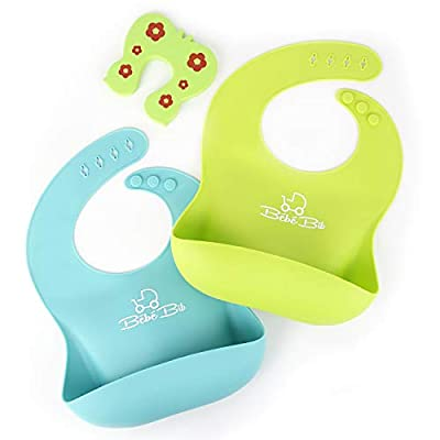 Bébé Earth® Soft Bibs - 2pack - Green/Yellow