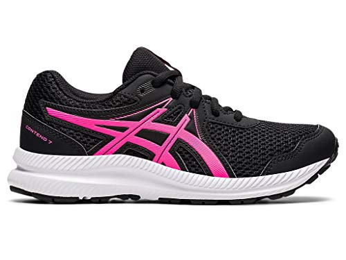 ASICS Kid's Contend 7 GS Running Shoes, 5, Black/HOT Pink