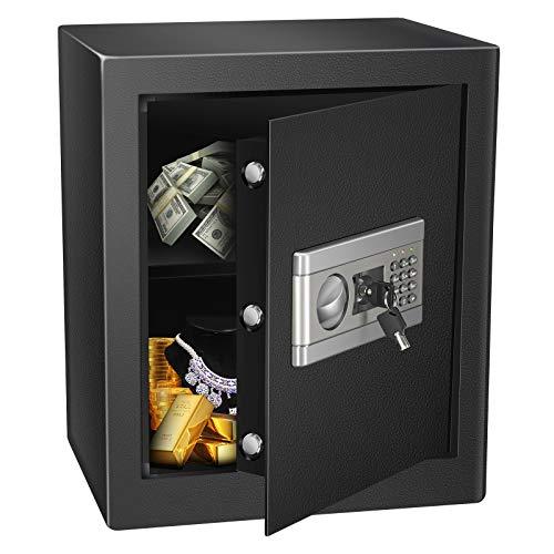 Errum - Caja fuerte digital electrónica para pared, humedad/a prueba de fuego/antigolpes, caja de seguridad, pequeña electrónica móvil - 1,53 cubos, 46 x 39 x 54 cm