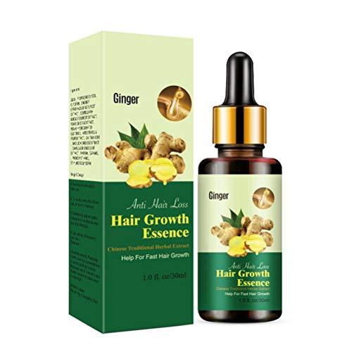 Atrumly Hair Essence, 30ml Ginger Hair Growth Essence Anti Hair Loss Nourishing Serum for Men Women Hair Growth Serum Fuller and Faster Growing Hair