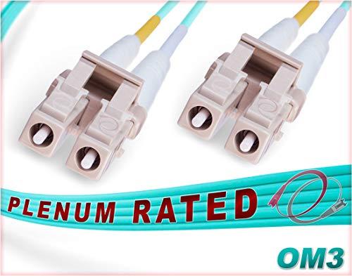 FiberCablesDirect - 100M OM3 LC LC Fiber Patch Cable | 10Gb Plenum...