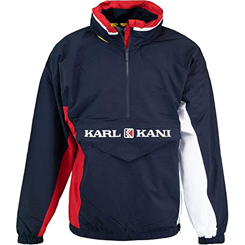 Karl Kani Retro Block Windbreaker Jacke (M, Navy)