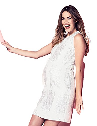 Love2Wait Umstandskleid Brautkleid Hochzeitskleid Schwangerschaftskleid Dress Damen Kleid 171068-XL