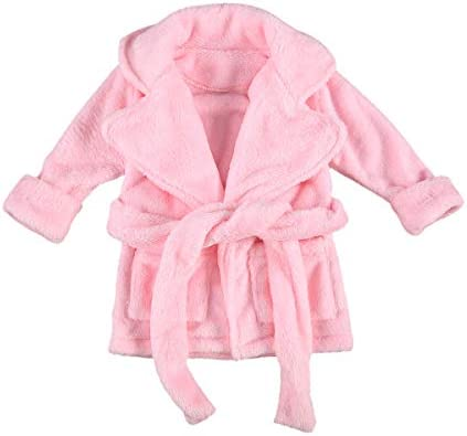 Infant Toddler Baby Girl Flannel Soft Bathrobes Kimono Robe Pajamas Sleepwear Nightgowns with product image