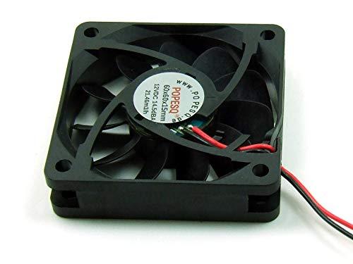POPESQ® 1 Piezas x Ventilador Super Silencioso 12V 60mm x 60mm x 15mm 3D Impresora #A2668