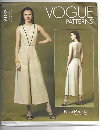 Vogue Patronen-V1647E5-Misses>Broek, Jumpsuits & ShortsMisses>Avond, Papier, Wit, diverse