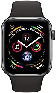 Apple MU6D2 44 mm Watch Series 4, Aluminum Case with Black Sport Band, GPS, watchOS 5 - Space Gray