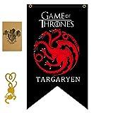 FengHuiCartoon [125cm X 70 CM Gift for Game Banner Thrones póster, Casa de Juego de Tronos Bandera, Targaryen Bandera para Bar House Party Decoration