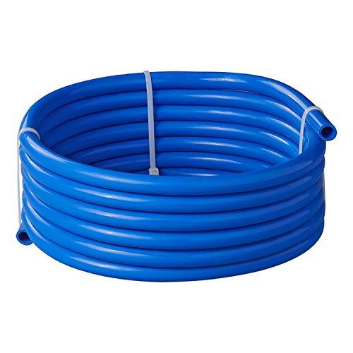 Trinkwasserschlauch DVGW W270/KTW A Wasserleitung Gr + Farbe (5,00M/10x15 mm, Blau)
