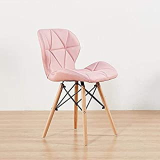 CattleBie Modern Simple Home Stool Back Makeup Desk Chair Butterfly Dining Chair (Color : Pink)
