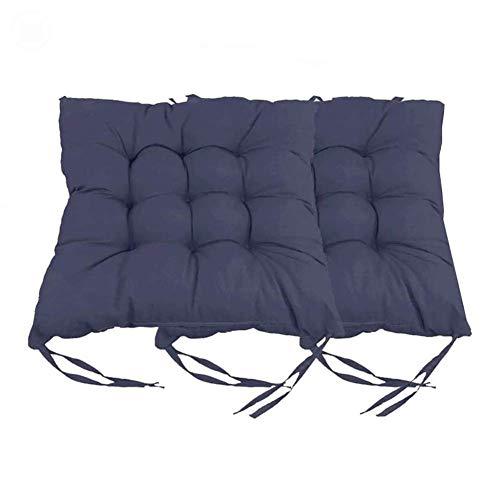 Cuscino per sedia da esterno/interno, cuscino in vimini addensato Cuscino quadrato imbottito per sedia Cuscini per sedili con lacci per sedie da giardino Sedia da pranzo per ufficio in casa, 16' X 16