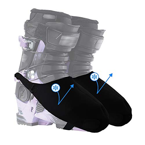 Byhoo Ski Boot Covers Warm Your Feet, 2 Snowproof Boot Gloves, General Ski Boot Cover for Skiers' Home Skiing, Toes Warm Hands and Boot Covers, Ski Lover
