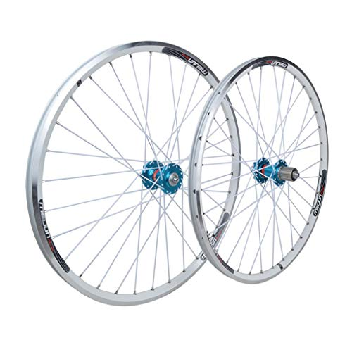 SN Outdoor Mountain Bike Wheelset 26, Double Wall Rim Quick Release Bicycle V-brake/Disc Brake Hybrid 7 8 9 10 Speed 32 Holes Training (Size : 26inch)