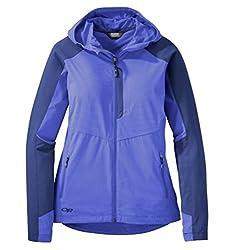Outdoor Research Women's Ferrosi Hooded Jacket, Batik/Baltic, X-Small