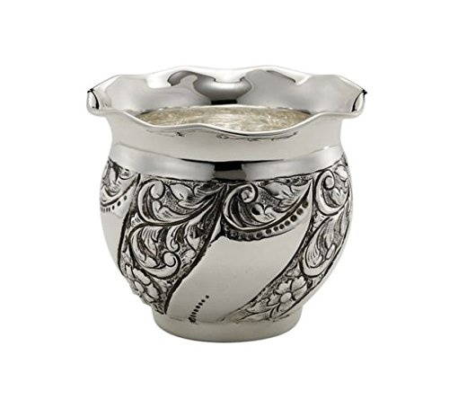 ROYAL QUEEN Cache Pot portavaso Argentato Argento Sheffield Stile cesellato cod.513.010 cm 10h diam.11,5 by Varotto & Co.