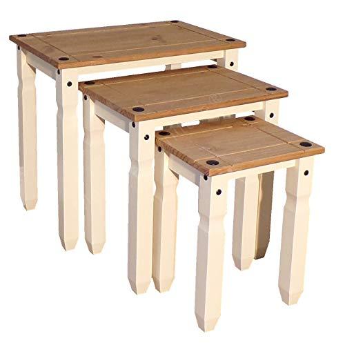 Mercers Furniture Corona Beistelltisch-Set, cremefarben, Piccolo