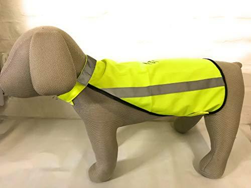 Weiß Hunde Warnweste, Sicherheitsweste S Rückenlänge 35-36cm