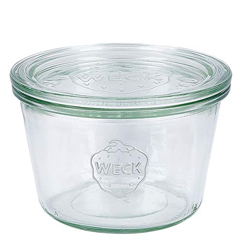 10x WECK-Sturzglas 370ml (1/4 Liter) mit Deckel