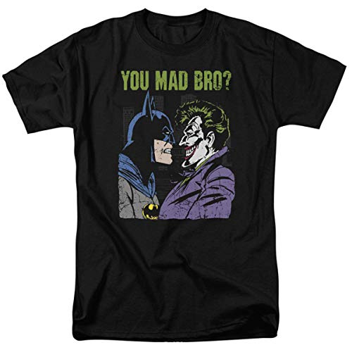 Batman Vs. The Joker You Mad Bro T Shirt and Stickers (XX-Large)