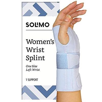 Amazon Brand - Solimo Women's Wrist Splint, Left Hand, One Size