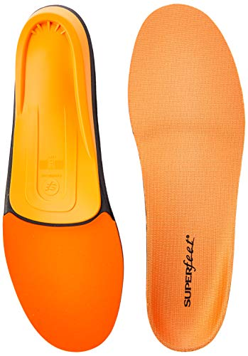 Superfeet ORANGE Insoles, High Arch Support and Forefoot Cushion, Orthotic Shoe Inserts for Anti-fatigue, Unisex, Orange