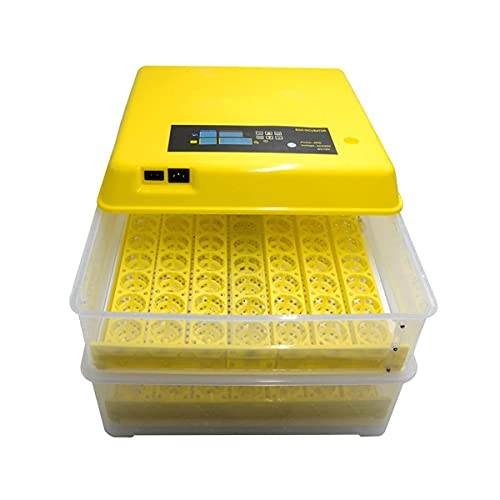 FHISD Automatic Egg Incubator 112 Eggs Poultry Hatcher with Automatic Egg Turning and Temperature Humidity Control for Chickens Ducks Goose Others, Built-in Egg Candler