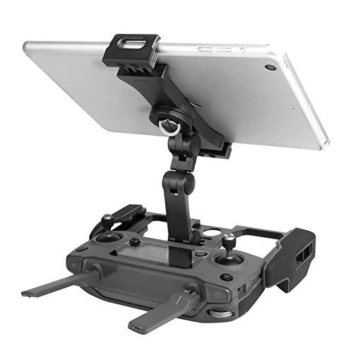 Dilwe Supporto per Tablet telefoni cellulari, Supporto Pieghevole in Metallo per DJI Mavic 2   PRO   Air   Spark(Nero, con Supporto per CrystalSky)