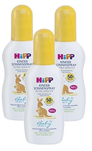 Hipp Babysanft Sonnenspray LSF 30, 3er Pack (3 x 150ml)