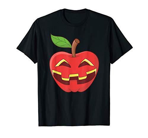 Apfel Halloween Kostüm Jackolantern Apfel-Laterne Geschenk T-Shirt