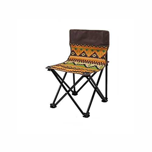 TangMengYun Folding Camping Stuhl Rückenlehne Portable Klappstuhl Freizeit Stuhl Strand Stuhl Outdoor Angeln Folding Hocker (Color : Bohemian Stripes, Size : 39 * 39 * 58cm)