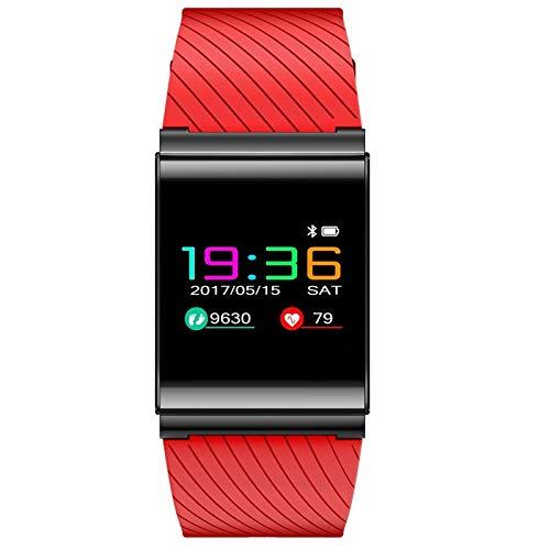 ZCFDD Braccialetto Intelligente Braccialetto Intelligente LCD X9 PRO Smartband Wristband Sangue Pressione Ossigeno Frequenza Cardiaca Tracker Fitness Chiamata SMS Alert per Android iOSRosso
