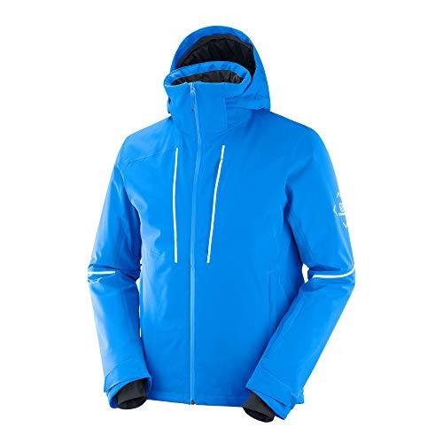 Salomon Men's Standard Edge Jacket, Indigo Bunting/White, Medium