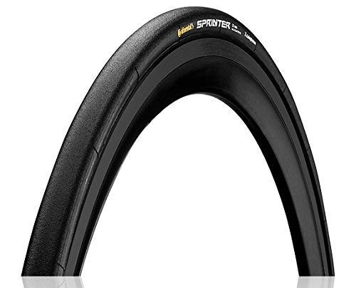 Continental Sprinter - Neumático tubular para bicicleta de carretera con chile negro (28x22, tubular, negro)