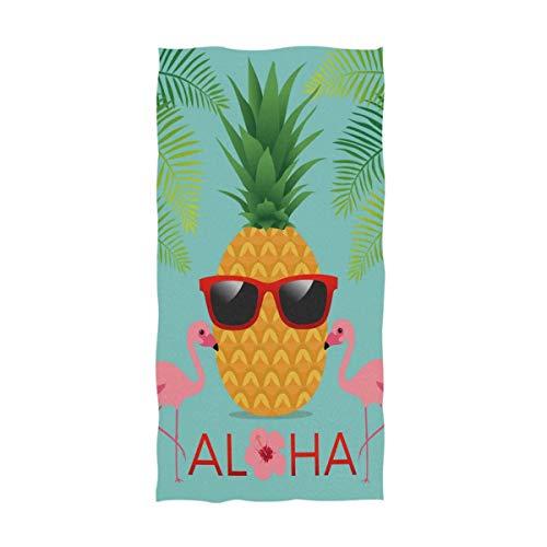 Bert-Collins Tropical Piña Gafas de Sol Toallas de Mano Flamingo Palmera Toalla de baño Toalla de baño Toallas Multiusos para Las yemas de los Dedos Altamente absorbentes (40x70cm)