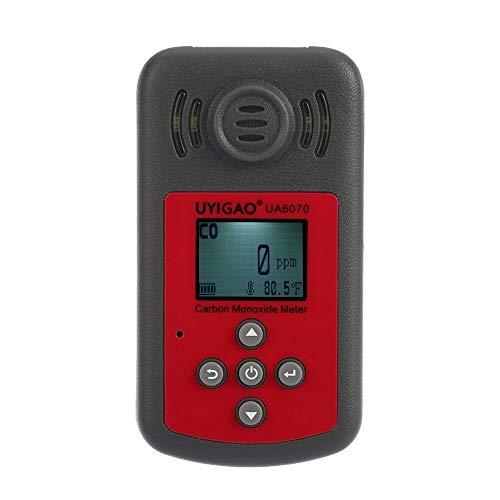 Detector de gas Digital Monitor del detector de gas de monóxido de carbono portátil de probador de CO de alta precisión con pantalla LCD Alarma de luz de sonido 0-2000ppm