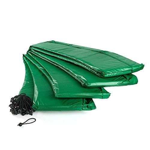Ampel 24 trampoline randafdekking, passend voor trampoline Ø 430 cm, scheurbestendige veerafdekking en groene UV-bestendige beschermrand