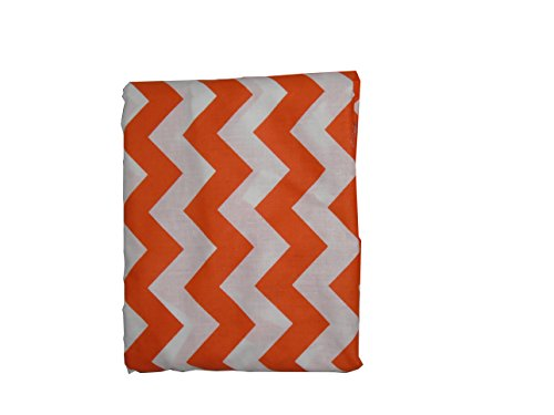 Baby Doll Bedding Chevron Fitted Crib/Toddler Bed Sheet, Orange