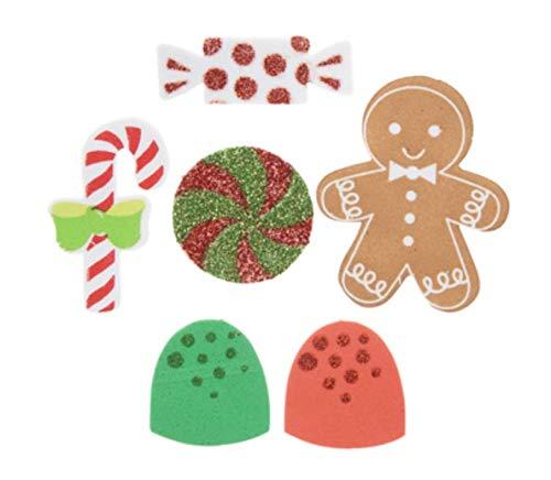 250 Piece Christmas Candy Foam Stickers