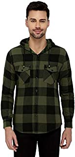 Nick&Jess Mens Casual Check Shirt with Hood
