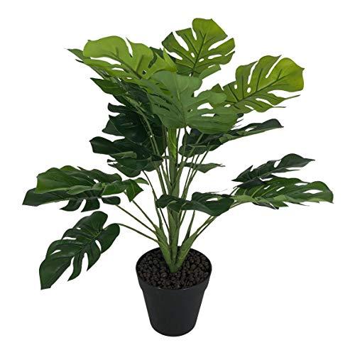 artfleur - künstliche Monstera im Topf Fensterblatt ca. 42 cm Grünpflanze Kunstpflanze Topfpflanze