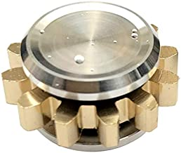 FREELOVE Metal Spinner Fidget Toy Prime, Steel Bearing for Copper Gear Design Mini Sized Fidgets Spinners Hands Finger Play Stress Free Hand Cool (1 Gear, Silver-Gold)