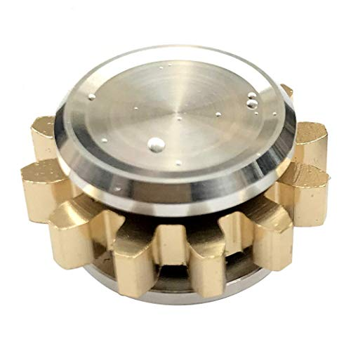 FREELOVE 9 Series Gear Design Pure Copper Brass Fidget Spinner EDC Toy Detachable R188 Silent Stainless Steel Bearing
