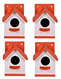 Material: Made of safe wooden material again environment friendly. Dimension: Lenght x width x hight - 11 X 14 X 16.5 CM. Hole Size : 5 CM. Made In India. Suitable for: A variety of small birds Place on a stand or suspend from a tree. Protect birds k...