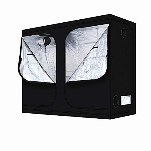 WXFN Armario De Invernadero Tienda Grow Tienda para Indoor Plántula Plantas Diseño 240X120x200cm Película Reflectante De Tela Oxford 600D