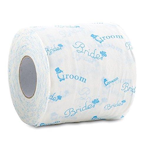 Unbekannt Braut und Bräutigam Hochzeit WC-Papier in traditionellen Something Blue Print