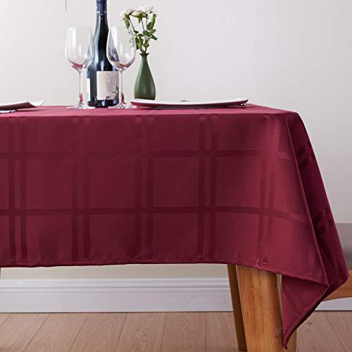 KBG Mantel A Cuadros Simple Y Generoso Mantel De Poliéster Impermeable Y A Prueba De Aceite Mantel De Mesa De Café